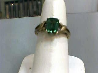 Yellow Beryl Lady's Stone Ring 10K Yellow Gold 1.6dwt Size:7