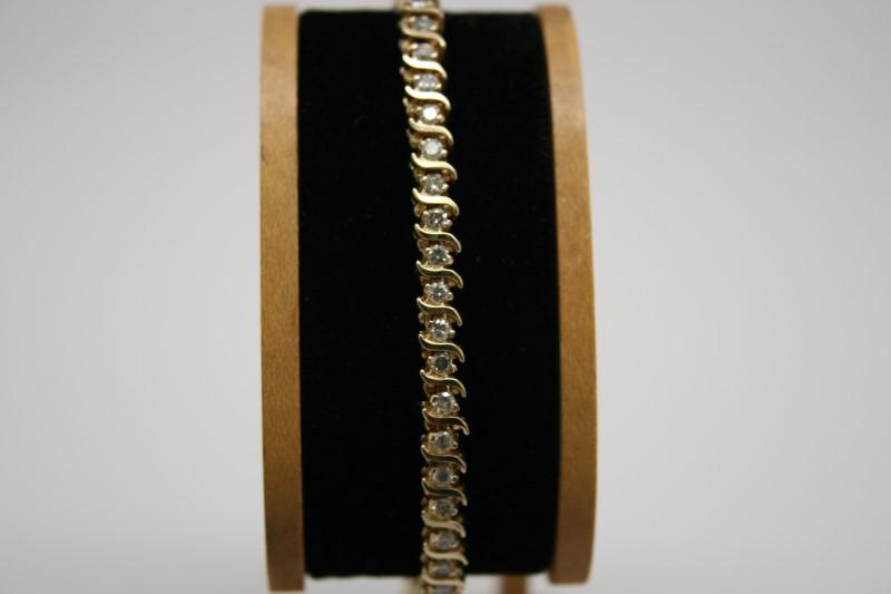 DIAMOND TENNIS BRACELET 14K YELLOW GOLD