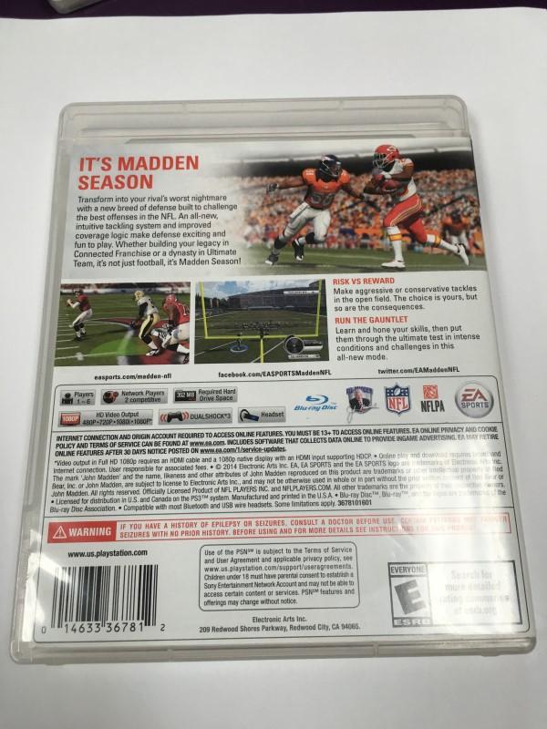 SONY PS3 NFL MADDEN (2015)