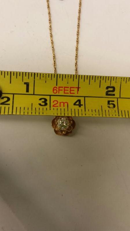 Diamond Necklace .20 CT. 14K Yellow Gold 2.05dwt