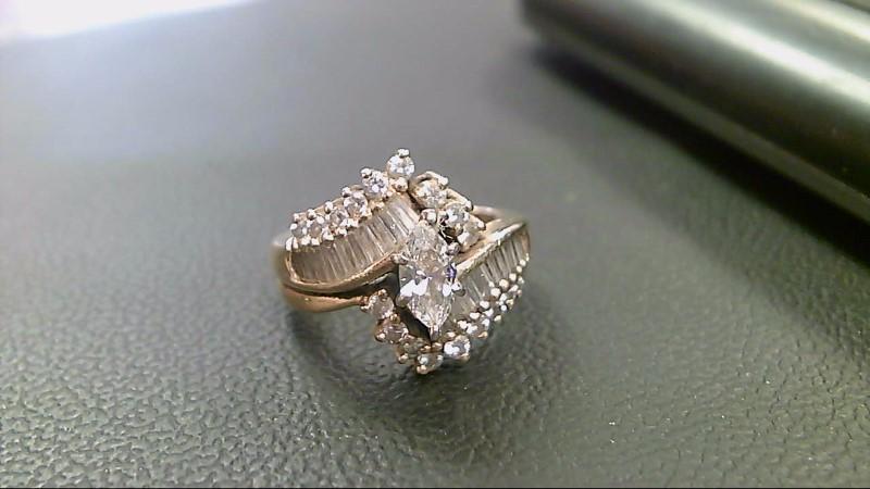 Lady's Diamond Cluster Ring 39 Diamonds 2.57 Carat T.W. 14K Yellow Gold 7.2g