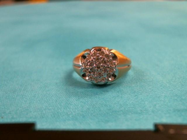 Gent's Diamond Cluster Ring 20 Diamonds .20 Carat T.W. 14K Yellow Gold 2.6dwt