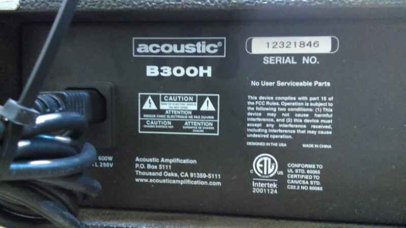 ACOUSTIC Bass Guitar Amp B300H
