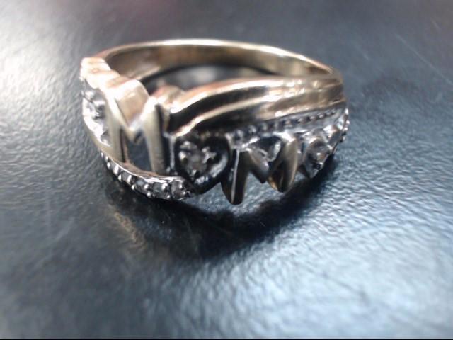 Lady's Diamond Fashion Ring 15 Diamonds .15 Carat T.W. 10K Yellow Gold 2.2g
