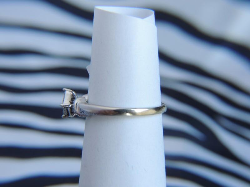 Lady's Diamond Fashion Ring 13 Diamonds .26 Carat T.W. 14K White Gold 1.7g