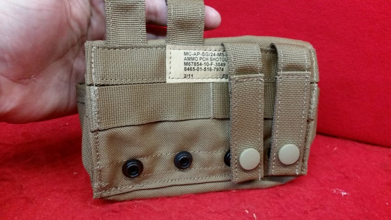 EIUI 2/11 24 Round Shotgun Ammo Pouch MOLLE Coyote Brown USMC
