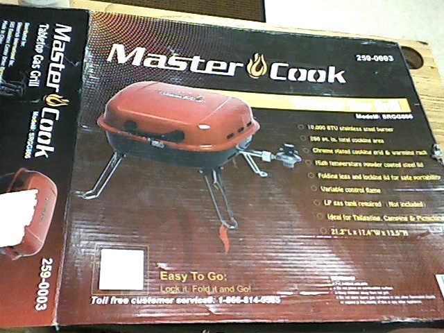 MASTER COOK Grill TABLE TOP GAS GRILL