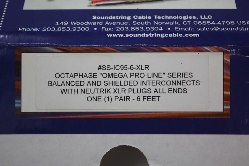 SOUNDSTRING XLR 6' LONG CABLE SS-IC95-6-XLR