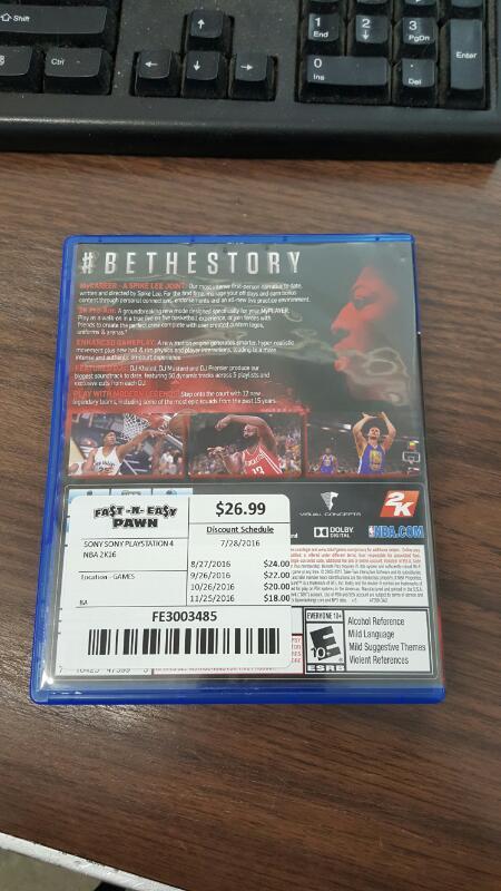 NBA 2K16 (Sony PlayStation 4, 2015, PS4) Anthony Davis Cover