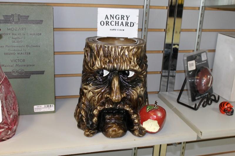 Angry Orchard Tree Stump Tip Jar