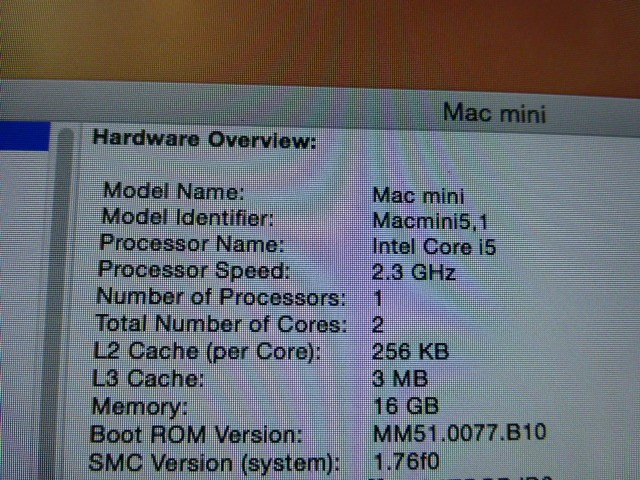 2011 Mac Mini - 16GB 1TB SSHD (Hybrid Drive) 2.3GHz