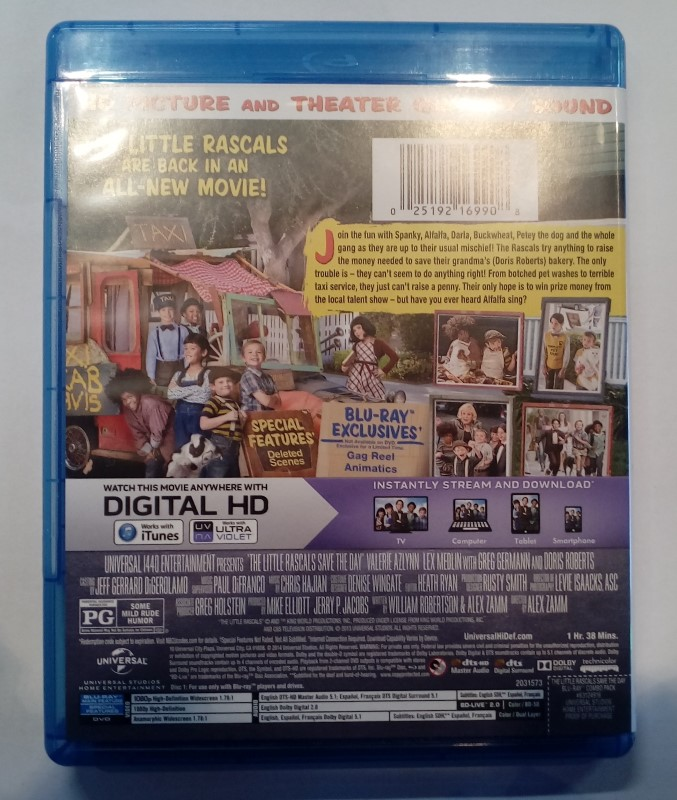 BLU-RAY MOVIE THE LITTLE RASCALS SAVE THE DAY