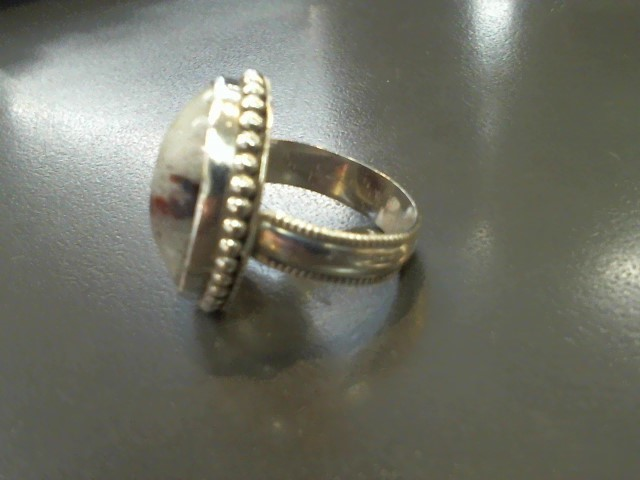 Synthetic Jasper Lady's Silver & Stone Ring 925 Silver 11.7g