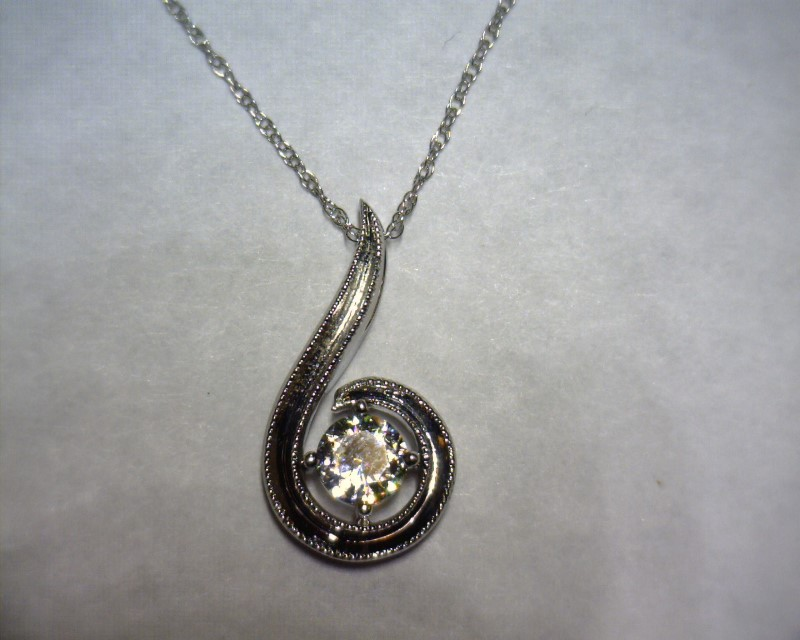 "18"" Diamond Necklace .24 CT. 14K White Gold 1.5dwt"