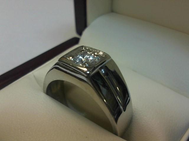 Gent's Diamond Fashion Ring .30 CT. 14K White Gold 5.4dwt
