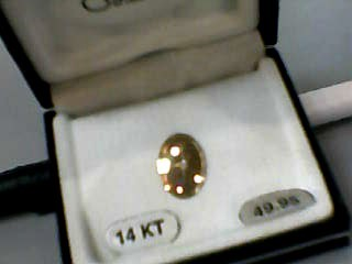 Gold-Diamond Brooch .01 CT. 14K Yellow Gold 0.3dwt