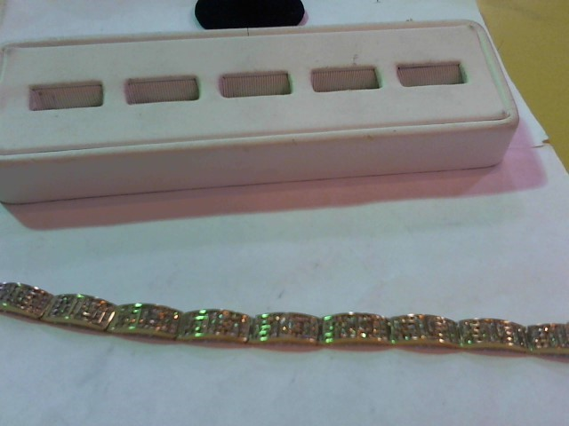 Gold-Diamond Bracelet 330 Diamonds 6.60 Carat T.W. 10K Yellow Gold 20.5g