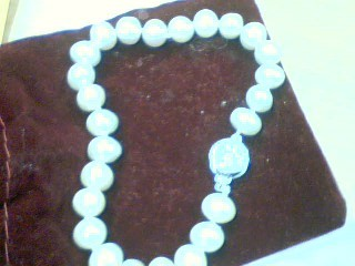 Synthetic Pearl Silver-Stone Bracelet 925 Silver 16g