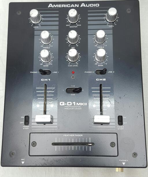 AMERICAN AUDIO DJ MIXER Q-D1 MKII 2-CHANNEL