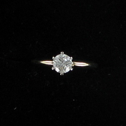 Lady's Diamond Solitaire Ring .50 CT. 14K Yellow Gold 1.7dwt