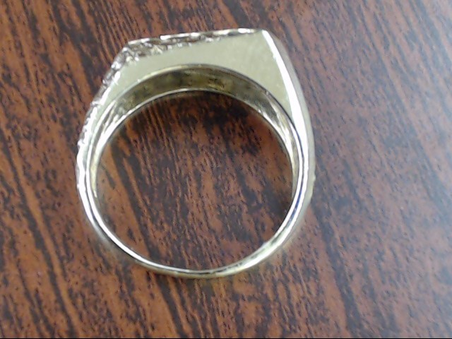 VINTAGE DIAMOND NUGGET RING BAND SOLID REAL 10K GOLD MEN WED SIZE 8