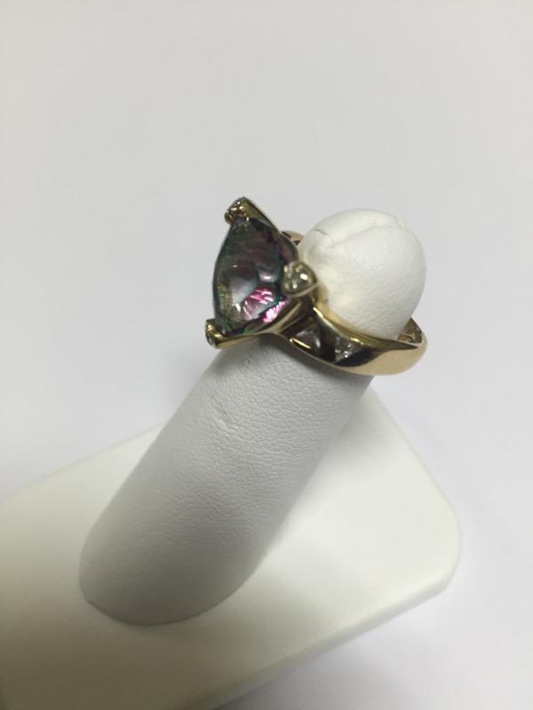 DIAMOND  CLUSTER RING L'S 10KT DIAMOND  3.5/YG