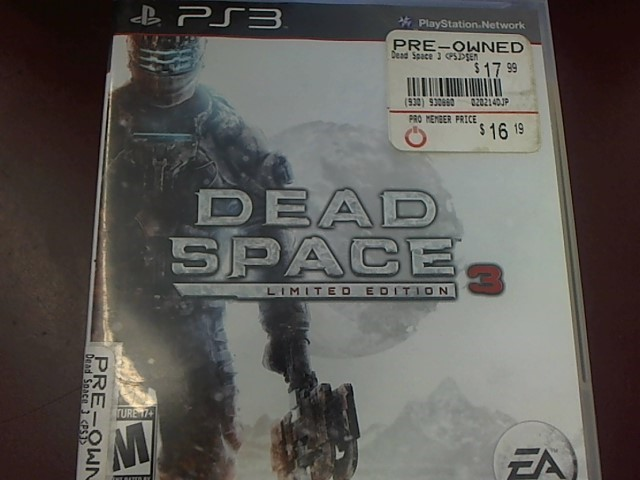 SONY PS3 DEAD SPACE 3 LIMITED EDITION