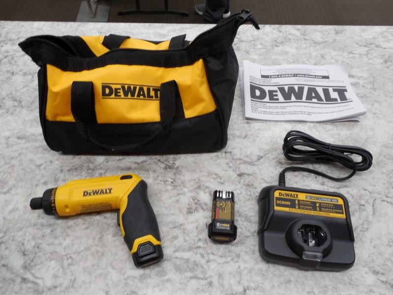 DEWALT DCF680 8V MAX GYROSCOPIC SCREWDRIVER 2 BATTERY KIT W/ CHARGER,CASE,MANUAL