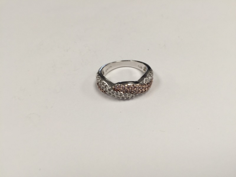 Cubic Zirconia Lady's Ring 925 Silver 4.8g Size:8