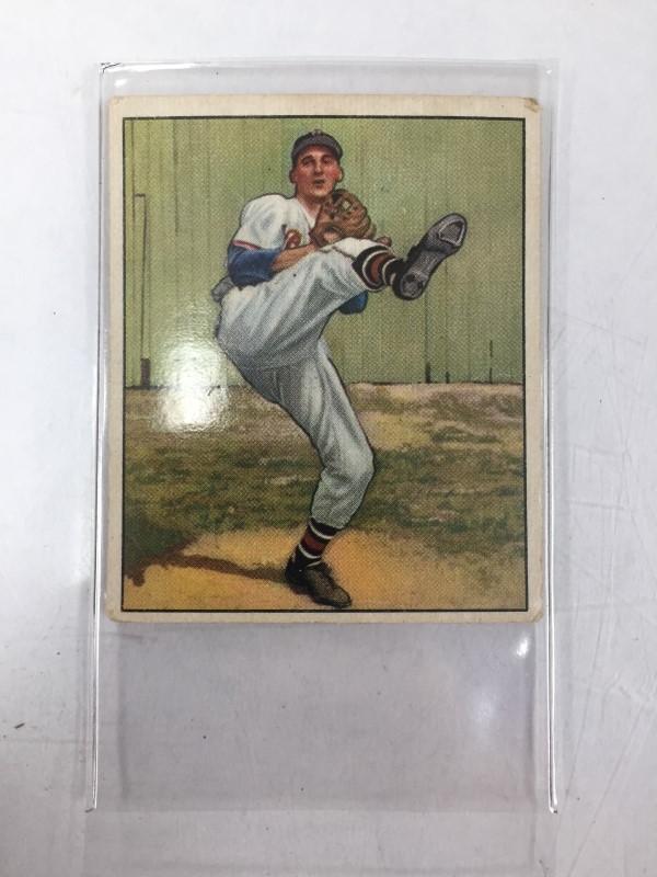 1950 BOWMAN WARREN SPAHN BASEBALL CARD