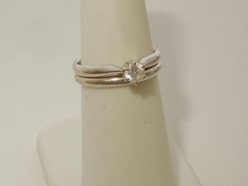 Lady's Diamond Wedding Set .20 CT. 14K White Gold 3.8g