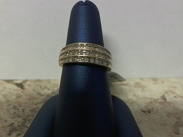 Lady's Diamond Fashion Ring 33 Diamonds .33 Carat T.W. 10K Yellow Gold 3.6g