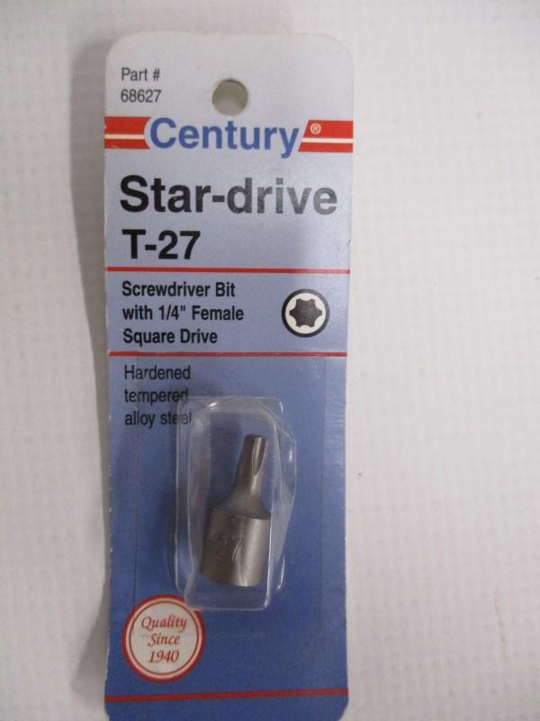 LOT OF 4 CENTURY STAR-DRIVE INSERT SCREWDRIVER BITS
