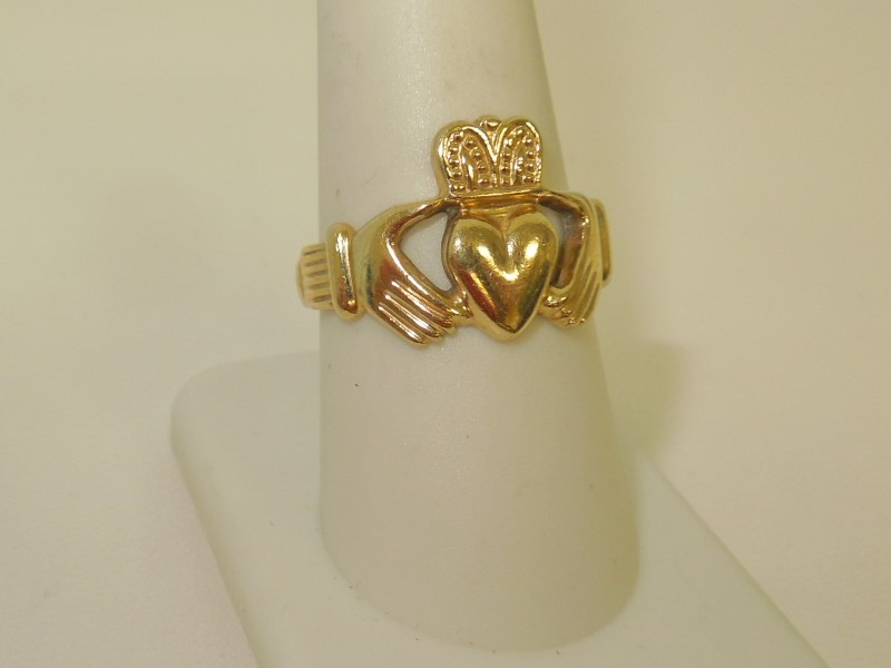 Lady's Gold Ring 10K Yellow Gold 4.7g Size:9