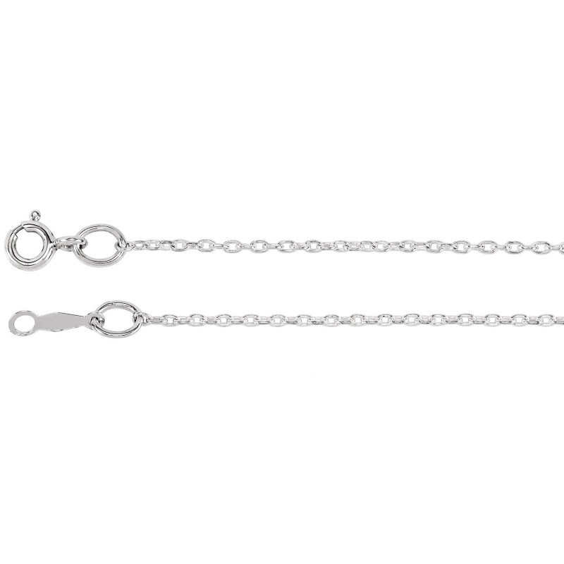"""New 22"""" Sterling Silver Cable Chain"""