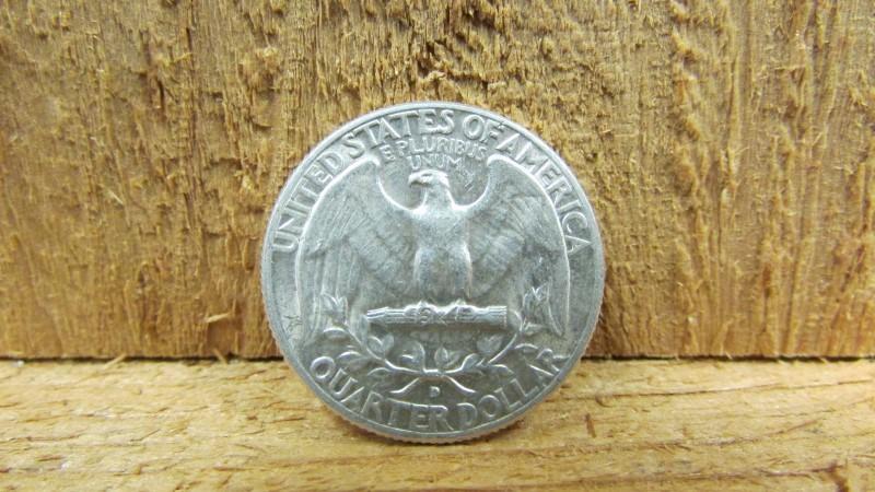 UNITED STATES Silver Coin 1964 D WASHINGTON QUARTER