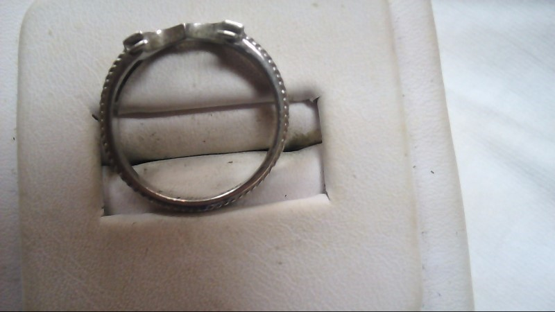 Lady's Silver Heart Stacking Ring 925 Silver 5.9g Size:7