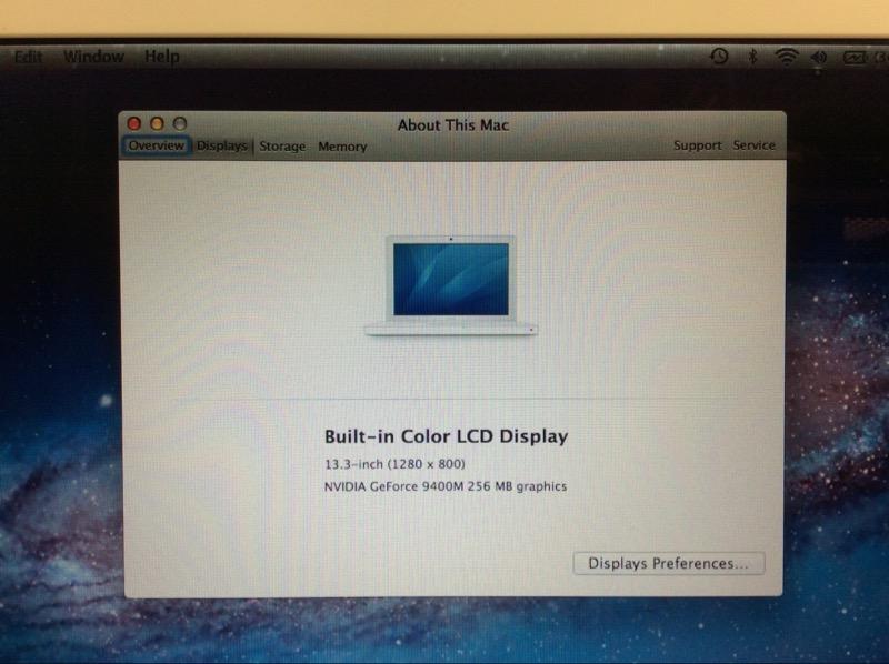 APPLE MACBOOK A1181 320GB HD, 2GB RAM, CORE 2 DUO @ 2.13GHz