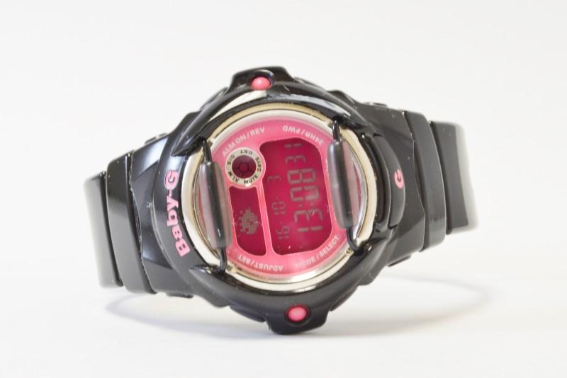 CASIO WOMEN'S BABY-G WATCH BG169-R, BLACK/PINK