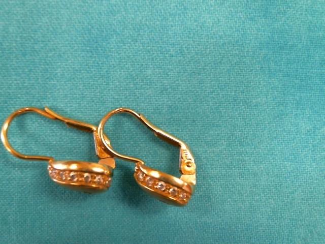 Gold-Diamond Earrings 26 Diamonds .52 Carat T.W. 14K Yellow Gold 2.4dwt