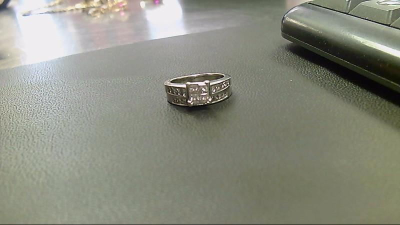 Lady's Diamond Wedding Set 22 Diamonds 2.28 Carat T.W. 14K White Gold 6.6g