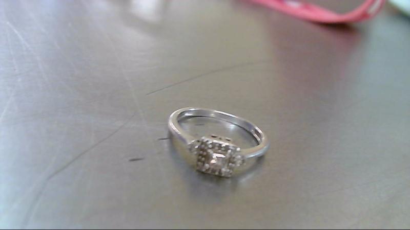 Lady's Diamond Fashion Ring .15 CT. 10K White Gold 1.9g