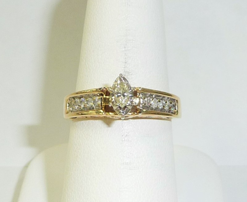 Lady's Diamond Engagement Ring 11 Diamonds .50 Carat T.W. 10K Yellow Gold