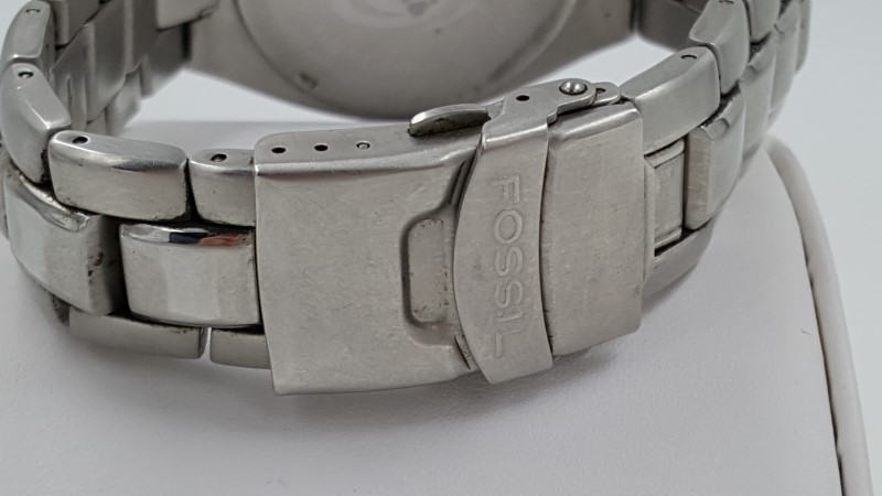 Men's Fossil AM3292 Watch Silver Toned Dial Stainless Steel