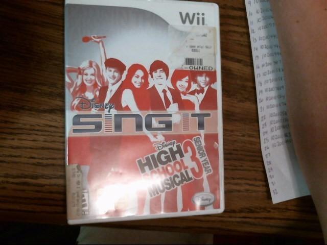 Disney Sing It High School Musical 3 Senior Year Wii