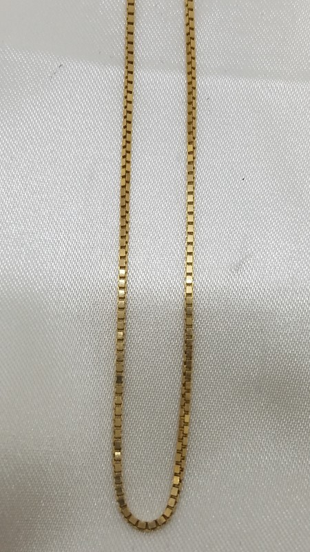 "19"" Gold Box Chain 14K Yellow Gold 4.3g"