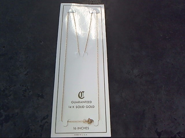 Gold Chain 14K Yellow Gold 0.5dwt