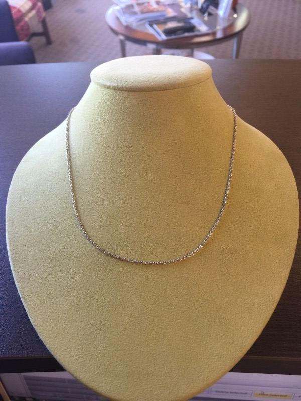 "16"" Gold Link Chain 14K White Gold 3.6g"
