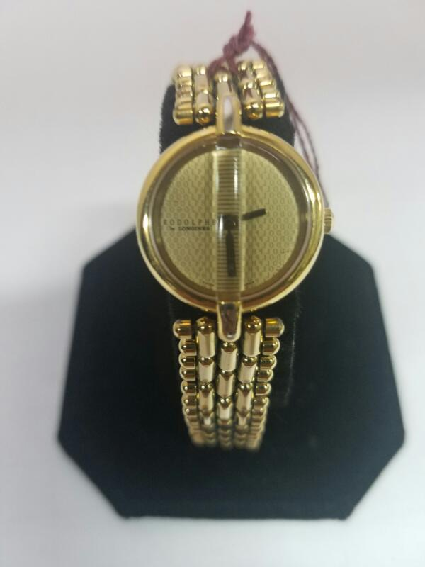 RODOLPHE  GOLD/SILVER WATCH PLATED   WMS WATCH GOLD TON