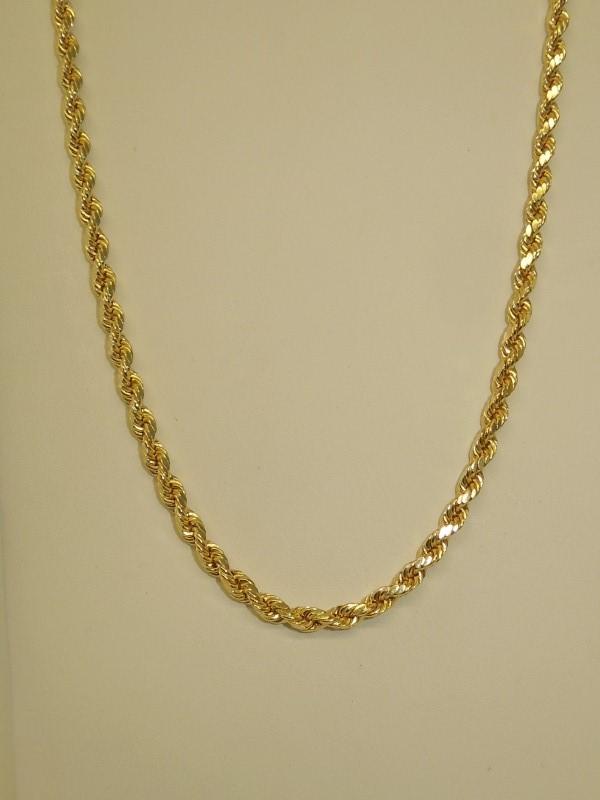 "28"" Gold Fashion Chain 10K Yellow Gold 7.4g"